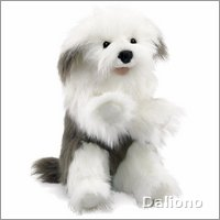 Folkmanis hand puppet old english sheepdog