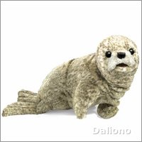 Folkmanis hand puppet harbor seal