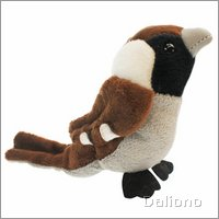 Finger puppet house sparrow