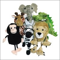 Finger puppets set african animals