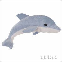 Finger puppet dolphin