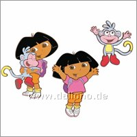 Dora the Explorer wall decoration, three pcs. - Decofun