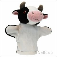 Baby hand puppet cow