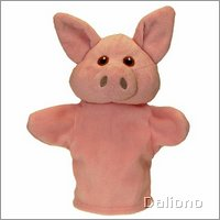 Baby hand puppet pig