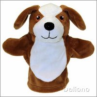 Baby hand puppet dog
