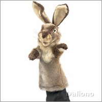 Folkmanis hand puppet rabbit (stage puppet)