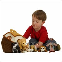 Finger puppets set hide away noahs ark