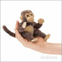 Folkmanis Fingerpuppe mini Affe