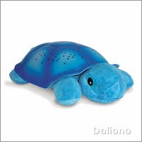 Twilight Turtle magic LED night light - blue - by cloud b