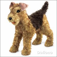 Folkmanis hand puppet airdale terrier
