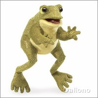 Folkmanis hand puppet funny frog