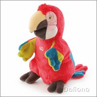 Parrot hand puppet by Trudi