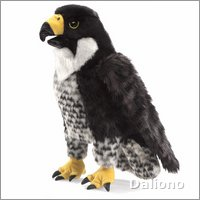 Folkmanis hand puppet peregrine falcon