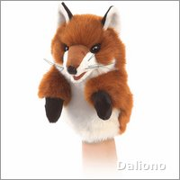 Folkmanis hand puppet little fox (small stage puppet)
