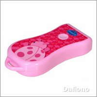 Twilight Ladybug pink LED flashlight by cloud b