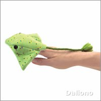 Folkmanis finger puppet mini ray