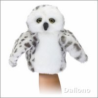 Folkmanis hand puppet little snowy owl (small stage puppet)