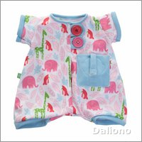 Pocket Friends pyjama, pink for Rubens Babys by Rubens Barn
