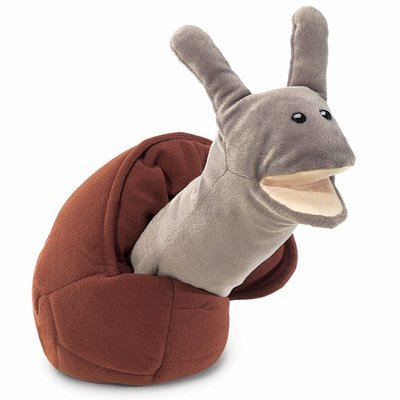 Folkmanis hand puppet snail