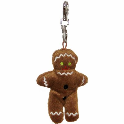 Gingerbread Man - Finger Puppet Key Ring