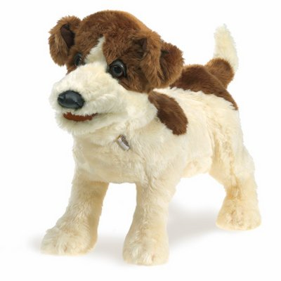 Folkmanis hand puppet jack russell terrier