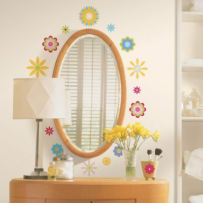 Graphic flowers peel & stick appliques - RoomMates