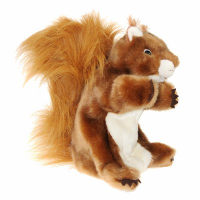 Long sleeved glove puppet squirrel, red