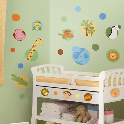 Jungle Animal Polka Dot Peel & Stick Wall Decals - RoomMates for KiDS