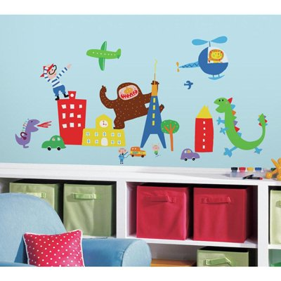 Lazoo Boys Wall Decals - RoomMates for KiDS