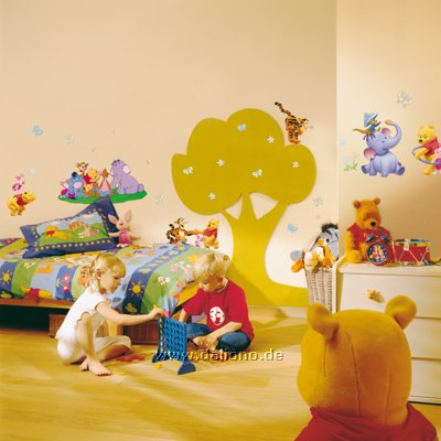 winnie pooh heffalump wandsticker decofun handpuppen. Black Bedroom Furniture Sets. Home Design Ideas