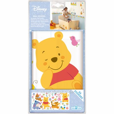 winnie pooh panorama wandsticker decofun handpuppen. Black Bedroom Furniture Sets. Home Design Ideas