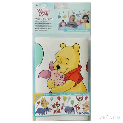 winnie pooh wandsticker a bother free day decofun. Black Bedroom Furniture Sets. Home Design Ideas