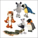 Zoo-Tiere Fingerpuppen Set