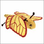 Finger puppet yellow butterfly