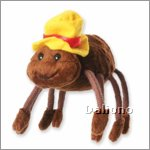 Finger puppet spider with hat