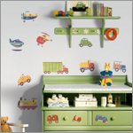 Transportation Wandsticker - RoomMates for KiDS