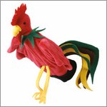 Hand puppet Rooster - by Beleduc