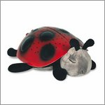 Twilight Ladybug magic LED night light - classic red - by cloud b
