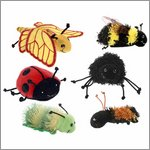 Insekten Fingerpuppen Set