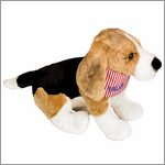 Soft toy beagle Kalle - funny animal paradeby Spiegelburg