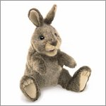 Folkmanis hand puppet small cottontail rabbit