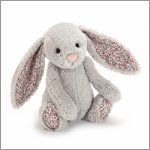Blossom Silver Bunny Medium - cuddly toy from Jellycat